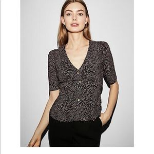 New v-neck puff sleeve Express blouse.